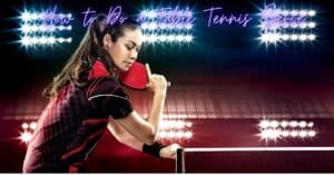 Serve in table tennis
