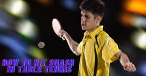 Smash stroke in a table tennis game