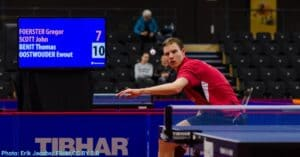 Topspin in table tennis