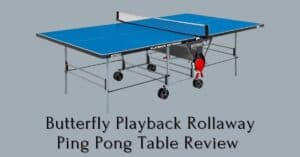 Butterfly playback rollaway ping pong table review